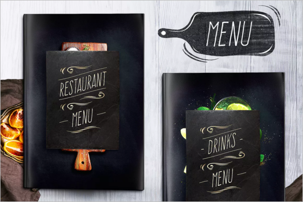Clean A4 Menu Design