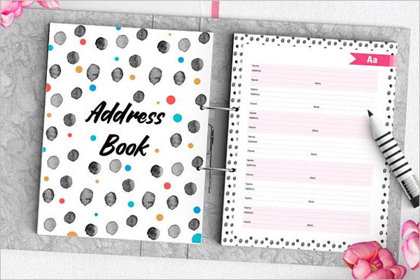 30 address book templates free word excel pdf designs. Black Bedroom Furniture Sets. Home Design Ideas