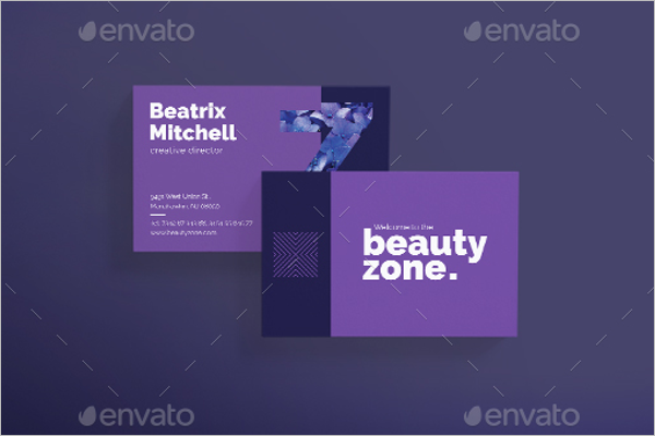 Clean Beauty Business Card Template