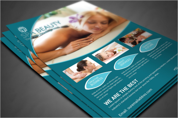 Clean Beauty Salon Flyer Template