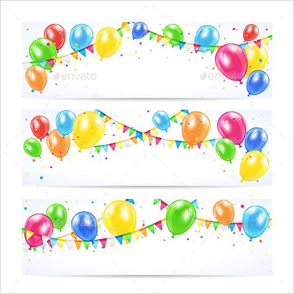 Clean Birthday Banner Template