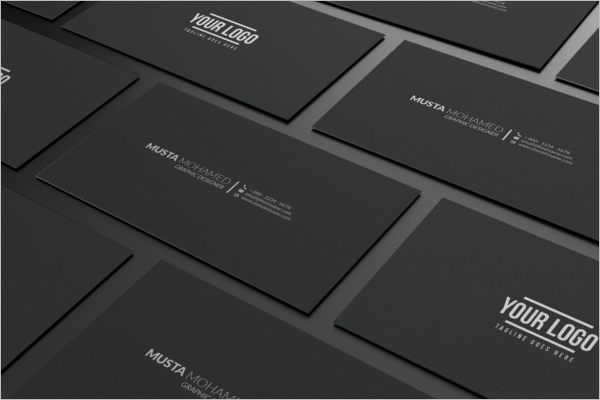 Clean Black And White Business Card