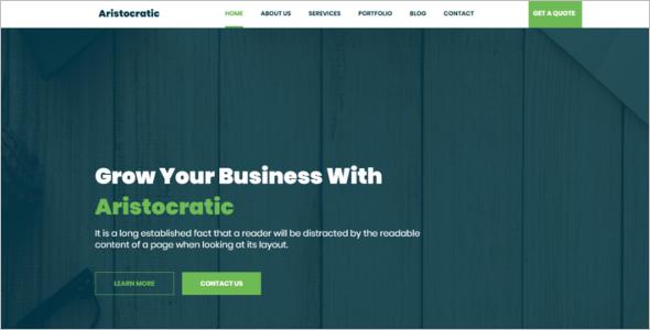 Clean Blog Design Template