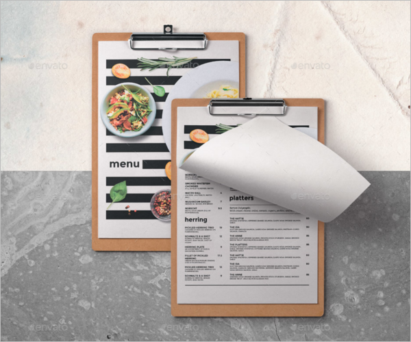 CleanCafe Menu Board Design