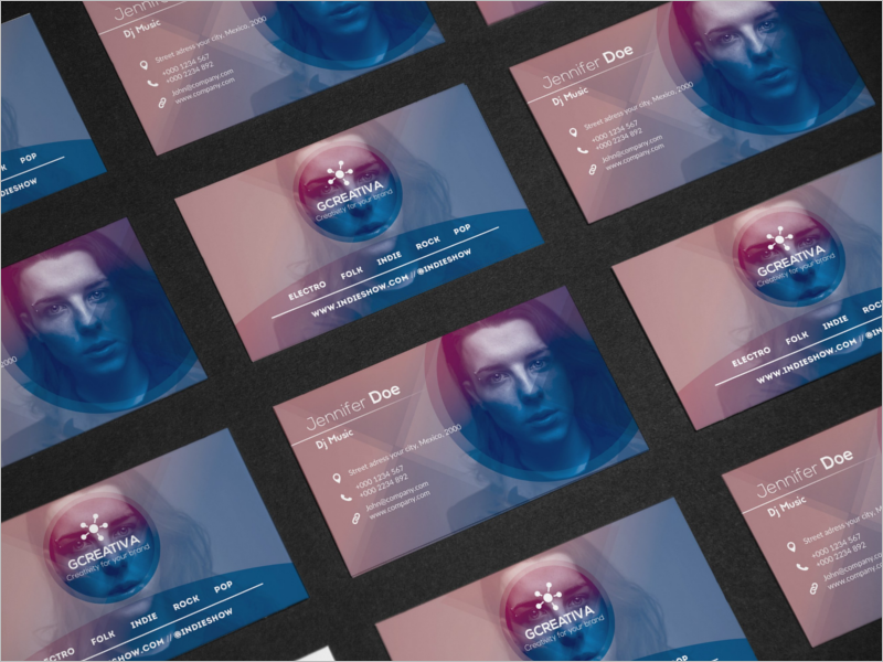 32 dj business card templates free download creativetemplate clean dj business card template accmission Gallery