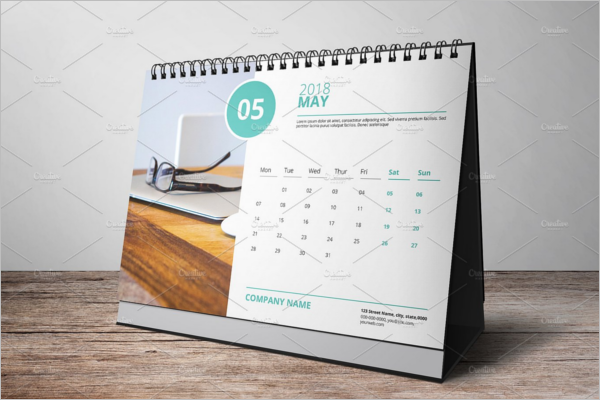 Clean Desk Calendar Mockup Template