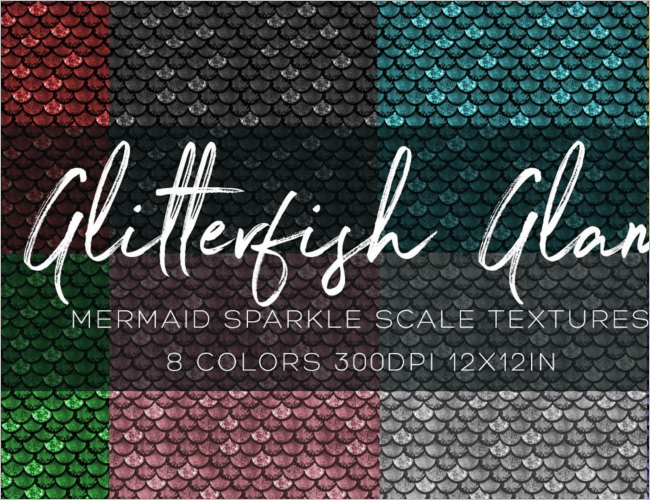 Clean Fish Scale Texture Design