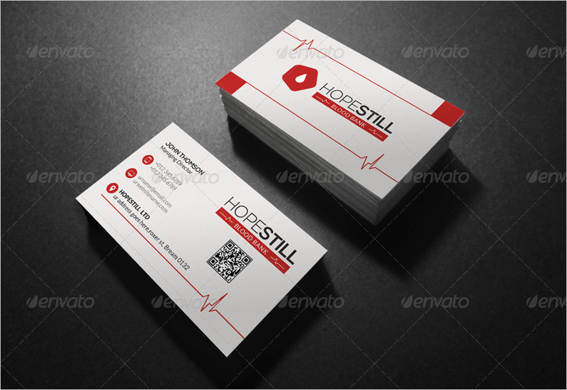 Clean Hospital Business Card Design