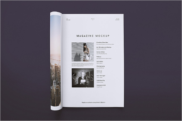 Clean Magazine Mockup Template