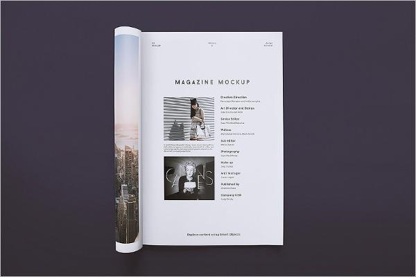 Clean Magazine Mockup Template