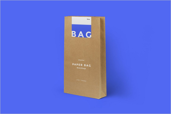 Clean Paper Bag Mockup Design