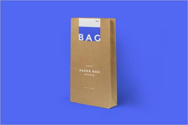 Clean Paper Bag Mockup Design