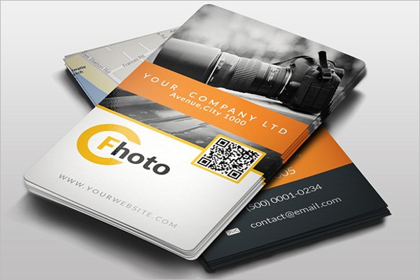 Clean Photography Business Card Design