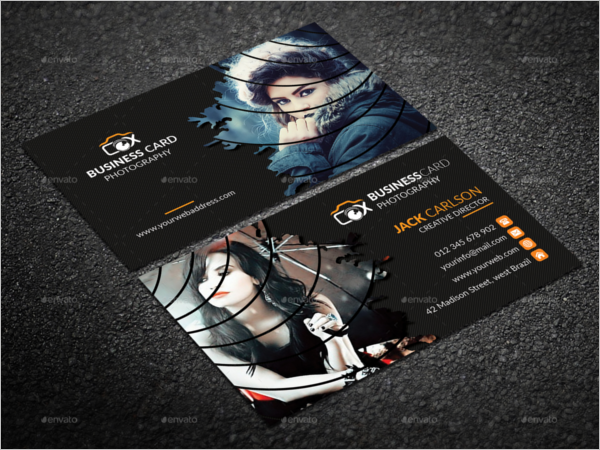 Clean Photography Business Card Template