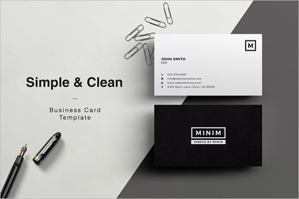 Clean Photoshop Business Card Design