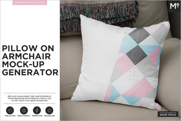 Clean Pillow Mockup Template