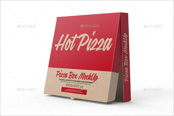 Clean Pizza Box Mockup