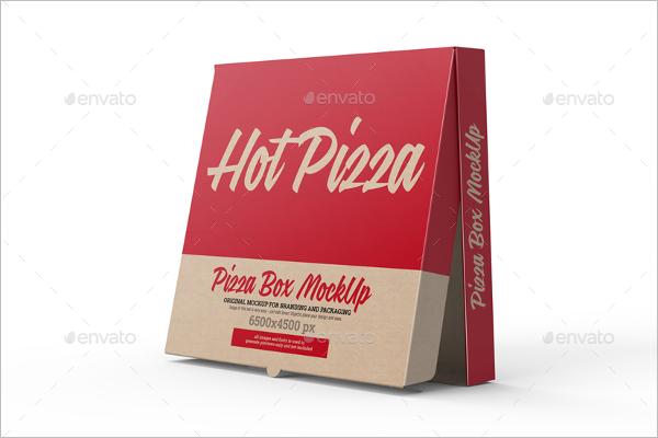 Clean Pizza Box Mockup