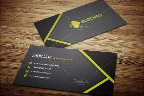 Clean Police Business Card Design