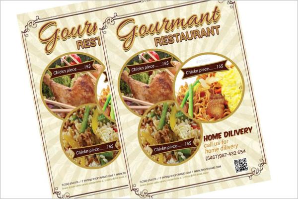 Clean Restaurant Flyer Design