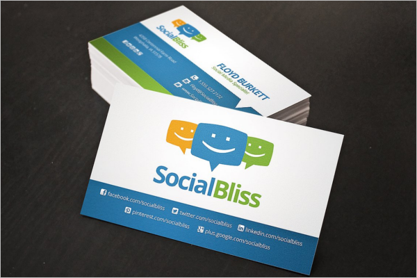 Clean Social Network Business Card Template