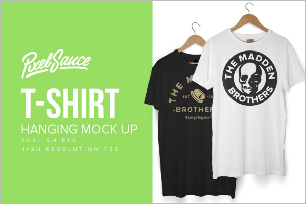 Clean T-Shirts Mockup Design