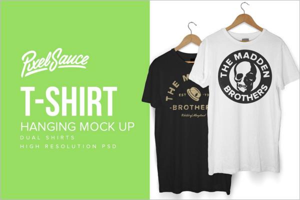 Clean T-Shirts Mockup Design