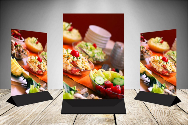Clean Table Tent Card Mockup