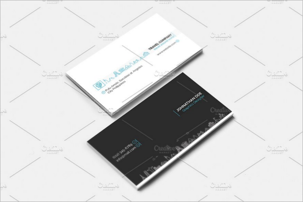 Clean Travel Business Card Template