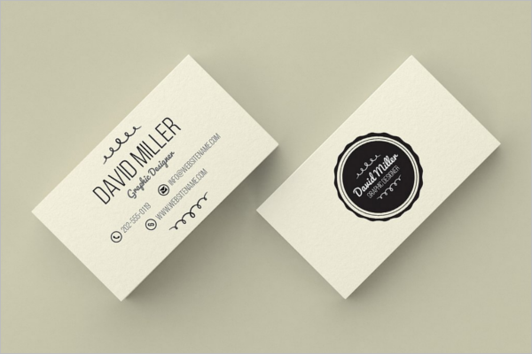Clean Vintage Business Card Template