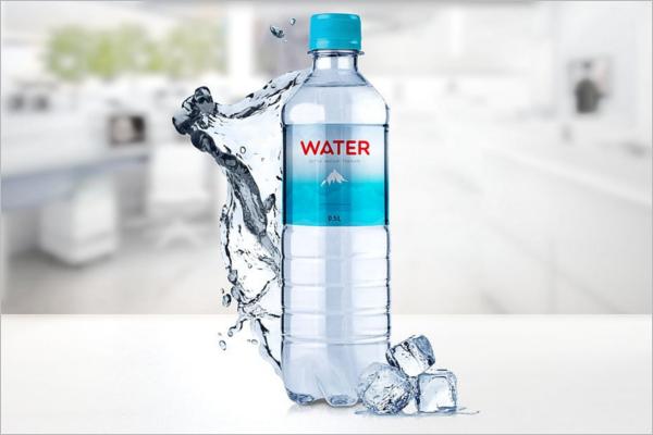 Clean Water Bottle Mockup Design
