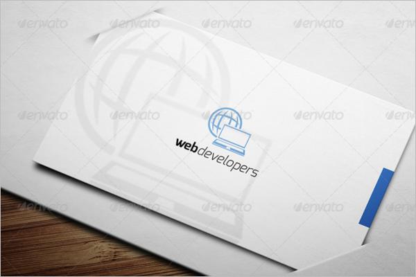 Clean Web Devoloper Business Card Template