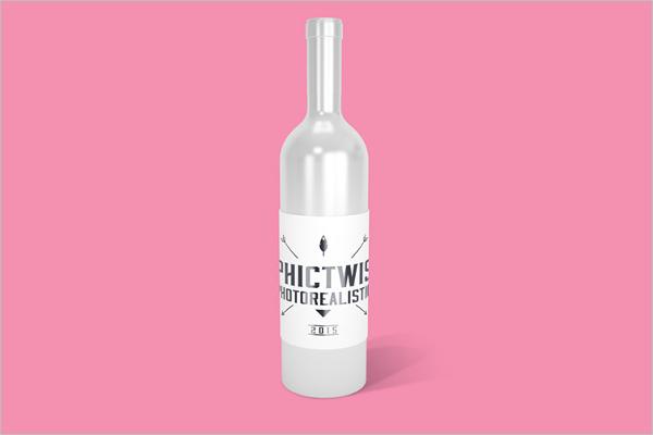 Clean Wine Bottle Free Mockup