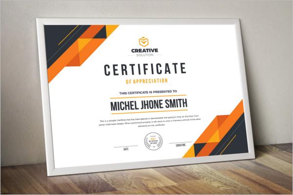 Clean Word Certificate Template