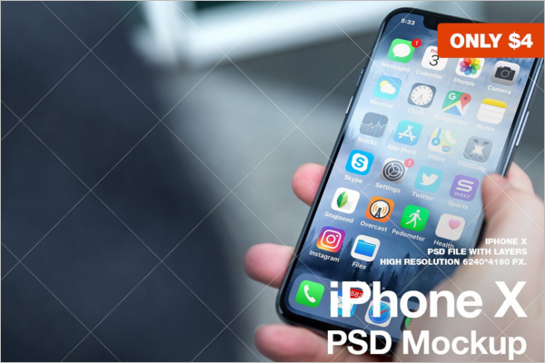 Clean iPhone X Mockup Design