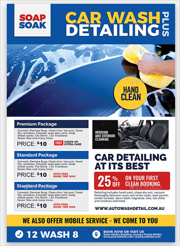 cleaning small business flyer design