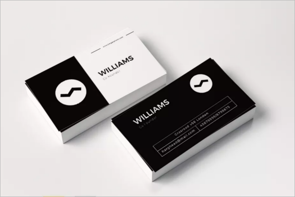 Clear Black & White Business Card