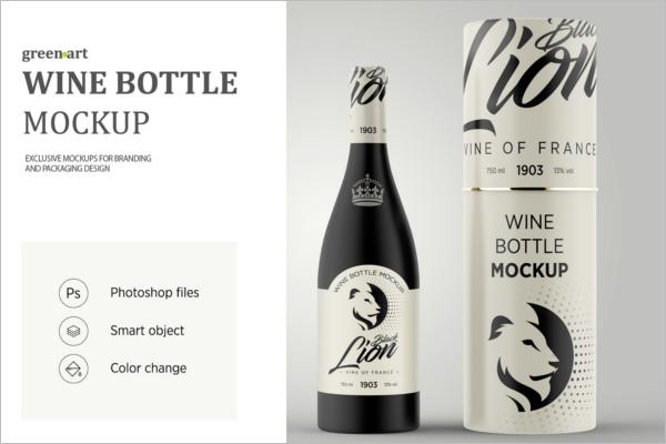 ClearWine Bottle Mockup