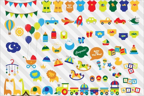 Clip Art Design Baby Shower Banner