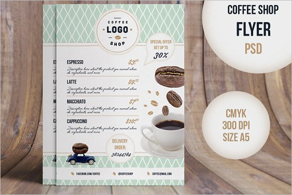 Coffee Flyer A5 Template