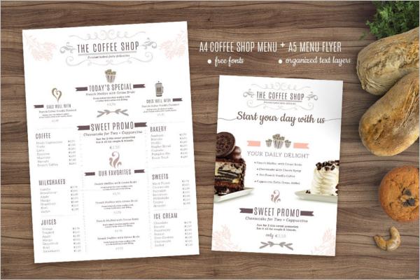 62 Cafe Menu Templates Free Psd Word Designs