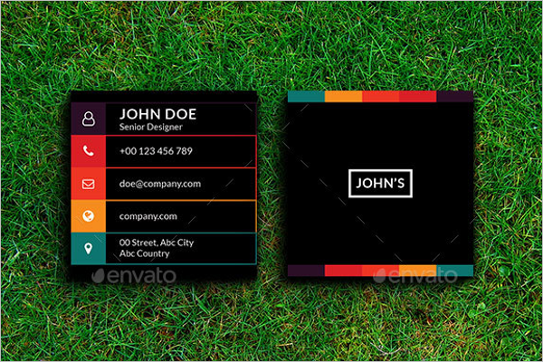 Colorful Square Business Card Template