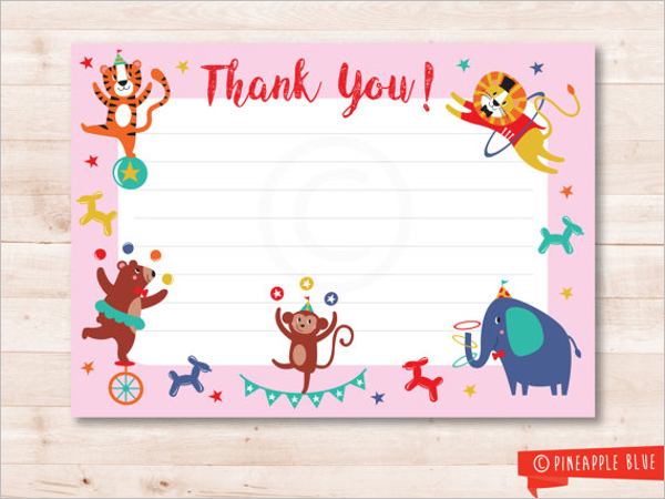 Colourful Kids Kids Thank You Card Design