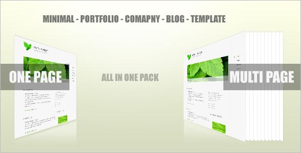 Company Blog Design Template