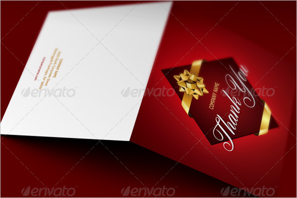Company Thank You Card Business Template
