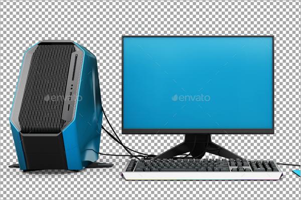 Computer Set Mockup Design