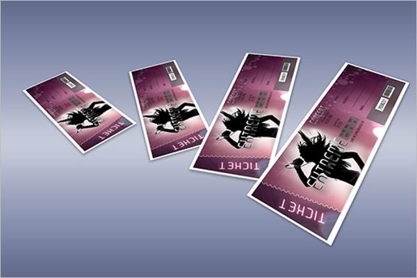 Concert Ticket Mockup Free Design