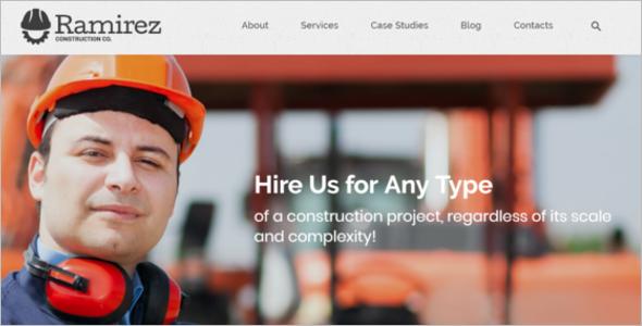 Construction Blog Design Template