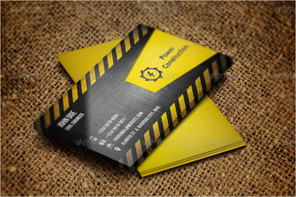 52 small business card templates free designs construction business card template fbccfo Image collections
