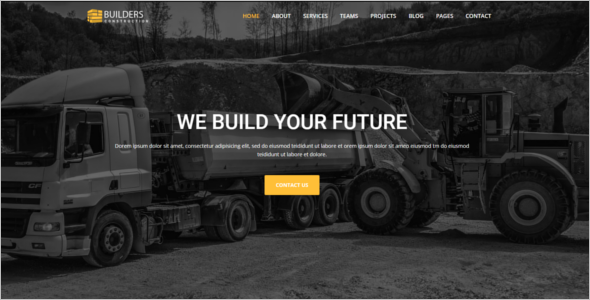 Construction Company Bootstrap Theme
